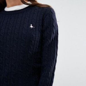 Jack Wills Navy Tinsbury Cable Jumper
